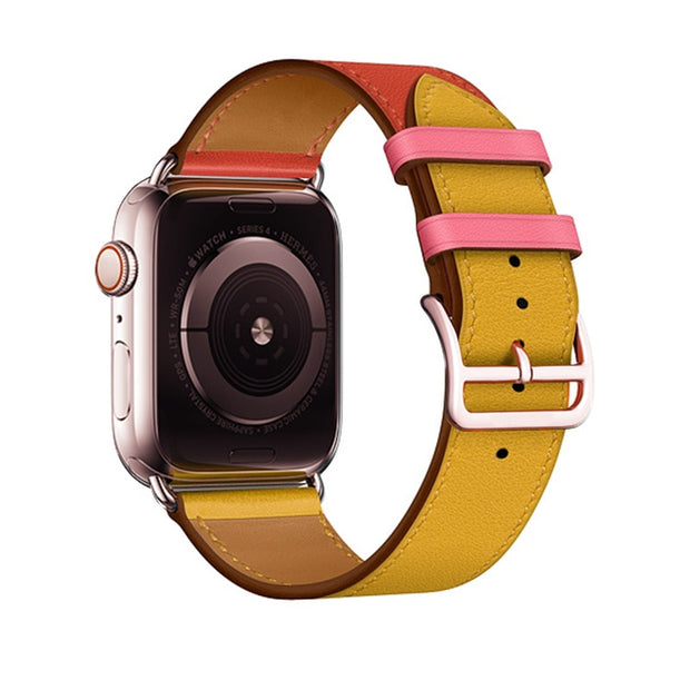 Rose Gold Buckle Strap For Apple Watch Band 38mm 42mm 44mm 42mm Swift Watch Cart