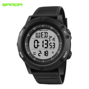 SANDA 372 Electronic Sport Watch Men Waterproof Watches Digital LED Back Light Wristwatch For Male Clock Sport Watches For Men
