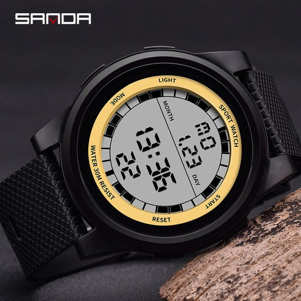 SANDA Super Slim Digital Watch Men Waterproof Led Electronic Men's Watches Ultra Thin Military Watches Relogio Masculino New 365