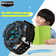 SANDA Digital LED Children's Watch Waterproof Swimming Girl Boy Clock Sports Watch Children's Student Waterproof Watch