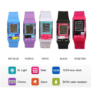 SHHORS Brand Electronic Kids Watch Sport Children Digital Watch Silicone Band LCD Wristwatch Waterproof Alarm Clock Kid Gifts