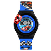 SKMEI Brand Luxury Child Watch Fashion Digital Kids Watches Creative Cartoon Car Children Wristwatches For Boys Kids Girls 1376