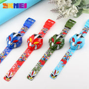 SKMEI Children Sports Watches Fashion Cartoon Casual Armor Digital Wristwatches Boys Hours Kids Watch 1239