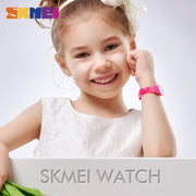 SKMEI NEW Kids Watches Plastic Case Boys Girls Children Watch Outdoor Sports Waterproof PU Starp Quartz Wristwatch 1401 Reloj