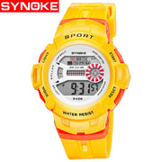 SYNOKE Children Sports Watches Fashion LED Digital Watch Boys Child Kids 30M Waterproof Wristwatches For Girls Gift Aaa Quality