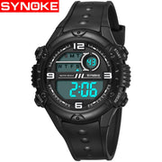 SYNOKE Fashion Dial Outdoor Sports Watches Men Electronic Quartz Digital Watch 50M Waterproof Wristwatches Relogio Masculino