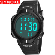 SYNOKE Men Sports Watches Countdown Double Time Watch Alarm Chrono Digital Wristwatches 30M Waterproof Relogio Masculino