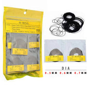 Shellhard 1set Waterproof O Ring Washers Set Watch Gaskets Kit Replacement O-rings For Watch Backs 0.5mm/0.6mm/0.7mm