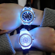 Silicone LED Luminous Fashion Ladies Outdoor Watch Women's Men Colorful Sports WristWatches Men Watch Clocks Relogios Masculino