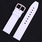 Silicone Watch Band Strap High Quality Stainless Steel Buckle Silicone Watchband Different Colors 18mm 20mm 22mm 24mm