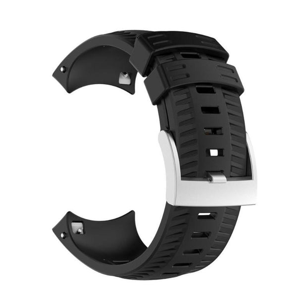 Silicone Wrist Band Strap Watchband Buckle For Suunto 9 Sports Smart Watch Electronic Wristwatch Belt Watch Accessories