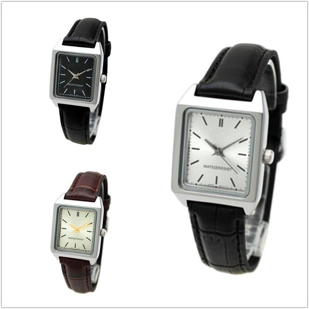 Small Black Table Retro Female Watch Belt Full Black Brown Black Plus White No Number Small Square Table Female Watch