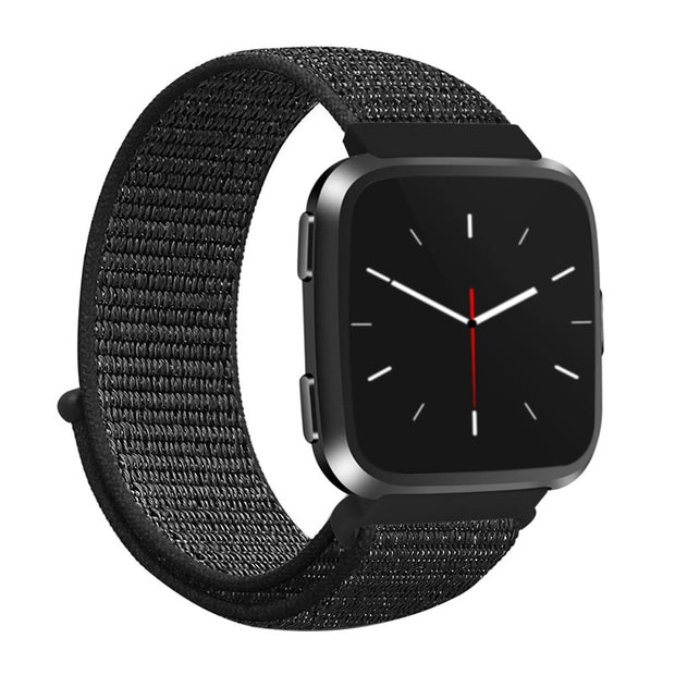 Sport Colorful Nylon Watch Strap For Fitbit Versa Fashion Replacement Bands Women Men New Breathable Smart Watch Wristband