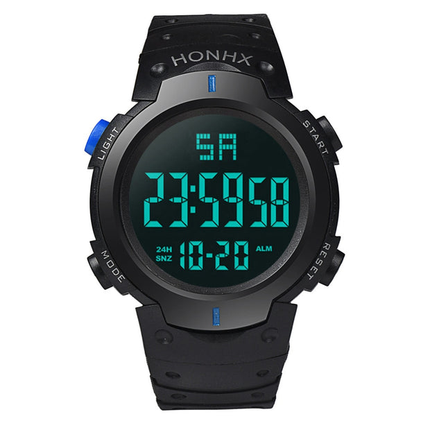 Sport Men Watch Waterproof Fashion Digital LED Quartz Alarm Date Sports Wrist Watch Multifunctional Hours Clock