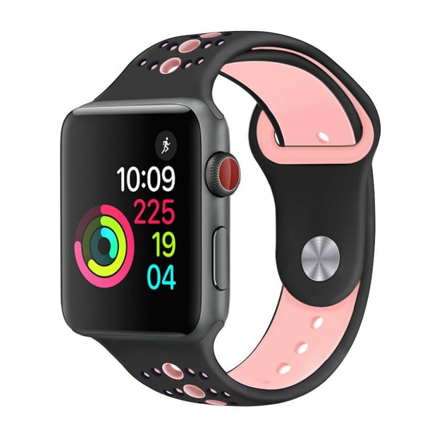 Sport Silicone Strap For Apple Watch Band Correa Aple Watch 42mm 38mm Iwatch 3 2 1 Bracelet Wristband Watchbands Accessories