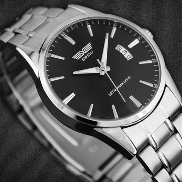 Stainless Steel Band Analog Quartz Sports Wrist Watch N16_F