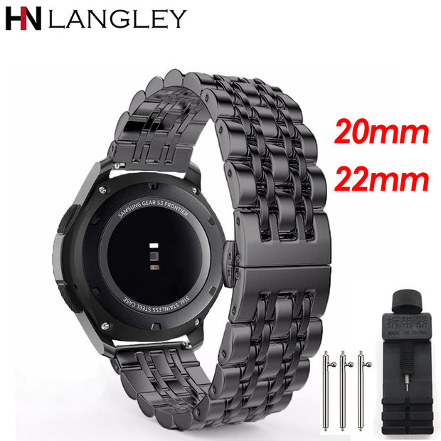 Stainless Steel Watch Band For Samsung Galaxy Watch 42mm 46MM Wrist Band Replacement For Samsung Gear S2 S3 Classic/Frontier