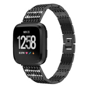 Stainless Steel Luxury Strap For Fitbit Versa Smartwatch Comfortable Bracelet Strap Wristband Watchband Replace Band Accessories