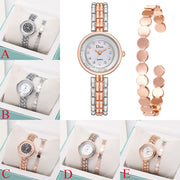 Susenstone2019 Light Luxury Lady Temperament Watch Bracelet Set Chain Watch Birthday Gift Fashion New Reloj Femenino Best Gift@4