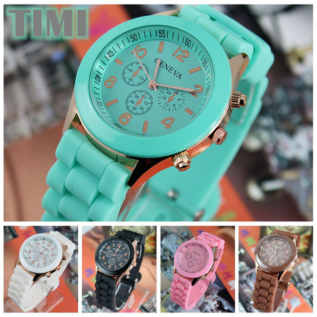 TIMI 2018 New Fashion Young People Favorite Silicone Watchband Women Quartz Watch Ladies Watch