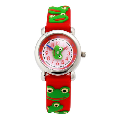 TOP Quality Waterproof Watch Kids Frog Watches 2016 Children's 3D Cartoon Wristwatch Analog Silicone Band