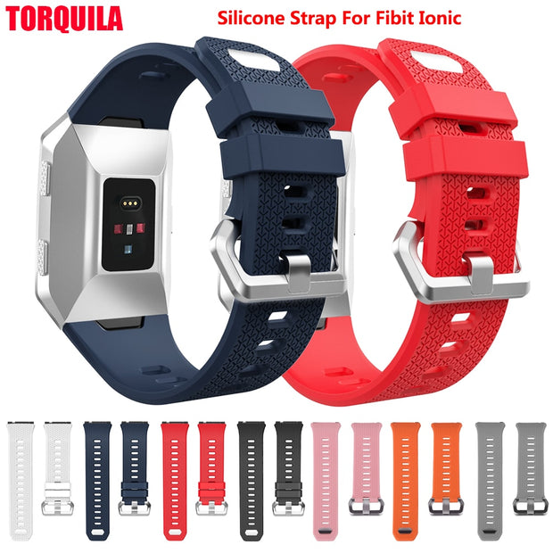 TORQUILA Soft TPU Silicone Strap For Fitbit Ionic Smart Watch Replacement Sport Band Accessories Women Men
