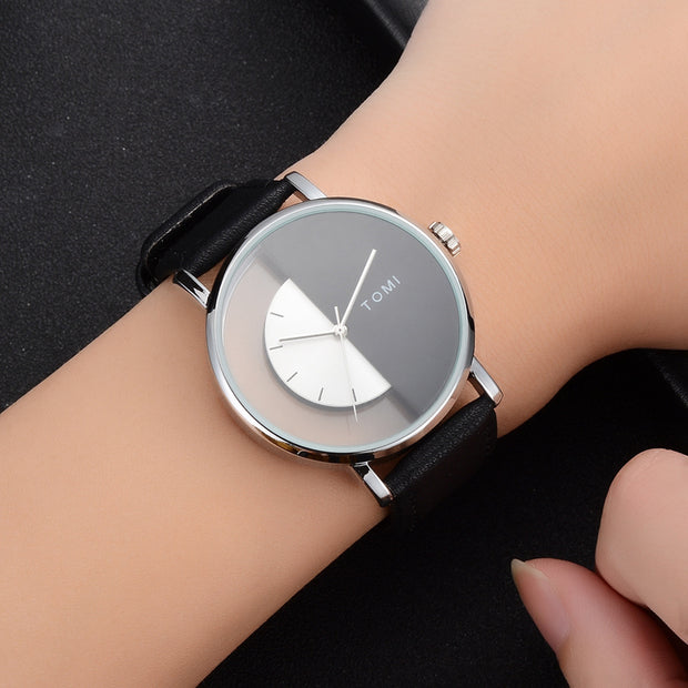Tomi 2018 Men Watch Luxury Brand Watches Quartz Man Clock Fashion Creative Simple Minimalist Leather Wristwatch Women Watch 20