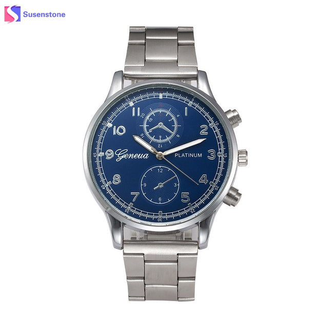 Top Luxury Brand Watch Men Analog Quartz Clock Stainless Steel Band Numerals Male Wristwatch Fashion Business Men's Watch