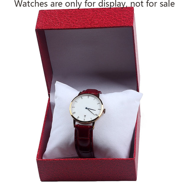 Top Sellers 2019 Fashion Watch Box Bracelet Bangle Jewelry Watch Durable Display Present Gift Boxes Case With Pillow Cushion