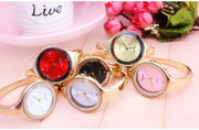 Top Women Bracelet Gold Watches Crystal Dress Ladies Fashion Stailess Steel Round Dial Unique Designer Quartz Watch