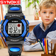 Transparent Fashion Camouflage Kids Child Boys Girls Multifunction Waterproof Sports Electronic LED Digital Watches Dropshipping