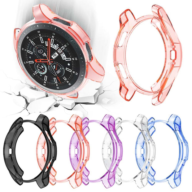 Ultra-thin Clear Colors Style Watch Case For Samsung Galaxy Watch 46mm Cover For Samsung Gear S3 Frontier Bumper Accessories