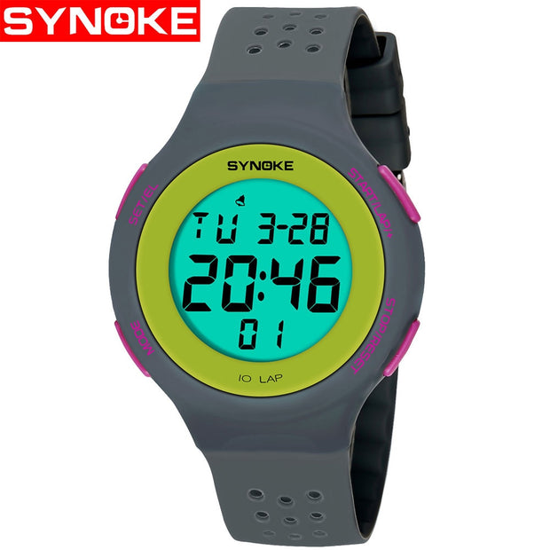 Ultrathin Unisex Electronic Digital Sports Waterproof Luminous Teen Watches Mens Dive 50m Digital LED Military Sports Watches