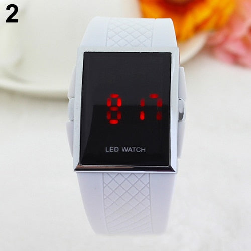 Unisex Fashion LED Digital Display Square Case Cool Sports Electronics Casual Wrist Watch Relogio Masculino Women