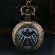 Vintage American Shield Game Of Thrones Quartz Analog Pocket Watch Necklace Chain Christmas Gift