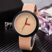 Vintage Wooden Color Dial Quartz Watch Fashion Hours PU Leather Strap Bracelet Wristband Jewelry For Women Men