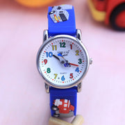 WILLIS Fashion Child Waterproof 3D Lorry Cartoon Design Analog Wrist Watch Children Clock Kid Quartz Wrist Watches