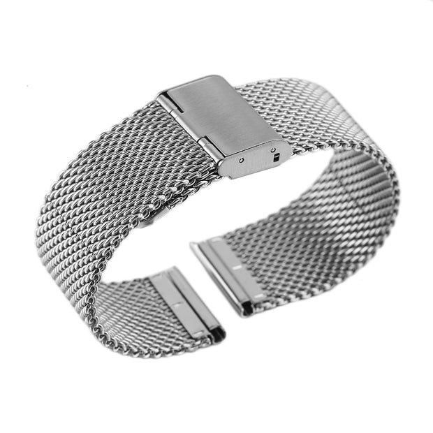 Watch Bracelet Net Steel Strap 22mm Splicing Buckle Band Safety Buckle For Smart Watches Quartz Watch Band Replaceable