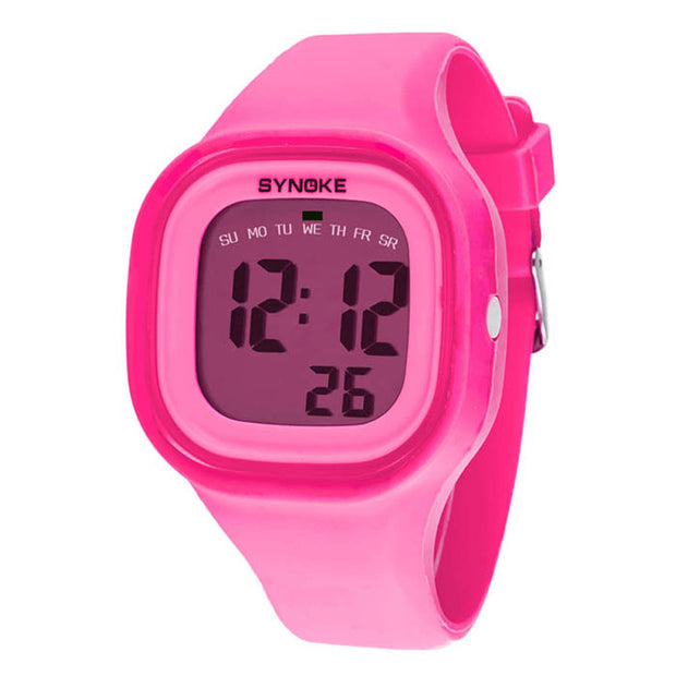 Watch Kids 1PC Silicone LED Light Digital Sport Wrist Watch Kid Women Girl Men Boy Date Clock Watch 7 Colors Wristwatch 2018 NEW