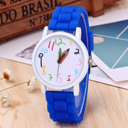 Watch Women Clock Fashion Multicolor Unisex Pencil Print Soft Silicone Best Wrist Watches Relogios Femininos Best Gift