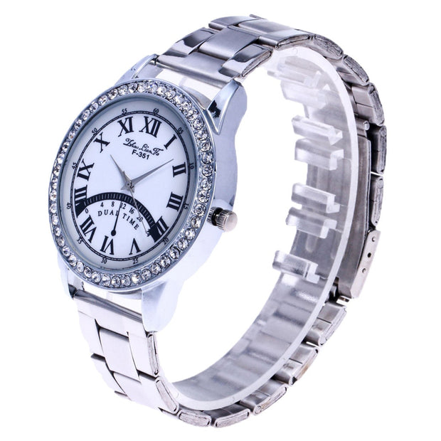 Watches Women Glass Mirror Steel Strap Strap Wristwatches Montre Femme Fashion Casual Ladies Watch Women Reloj Mujer 19FEB15