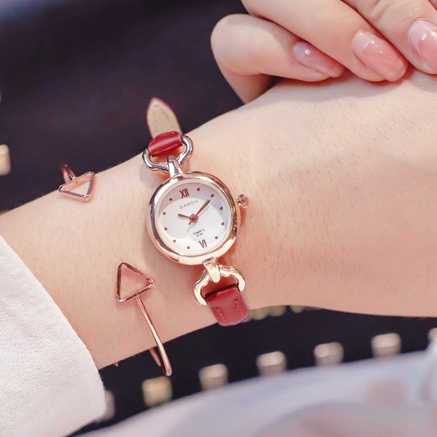Watches Women Luxury Brand Leather Strap High Quality Gold Bracelet Quartz Watch For Women Dress Wristwatches Female Clock Hot