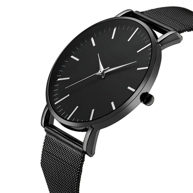 Waterproof Men's Watches Men Stainless Steel Watch Simple Style Ultra Thin Design Male Quartz Clock Brand No Logo A Reloj Mujer