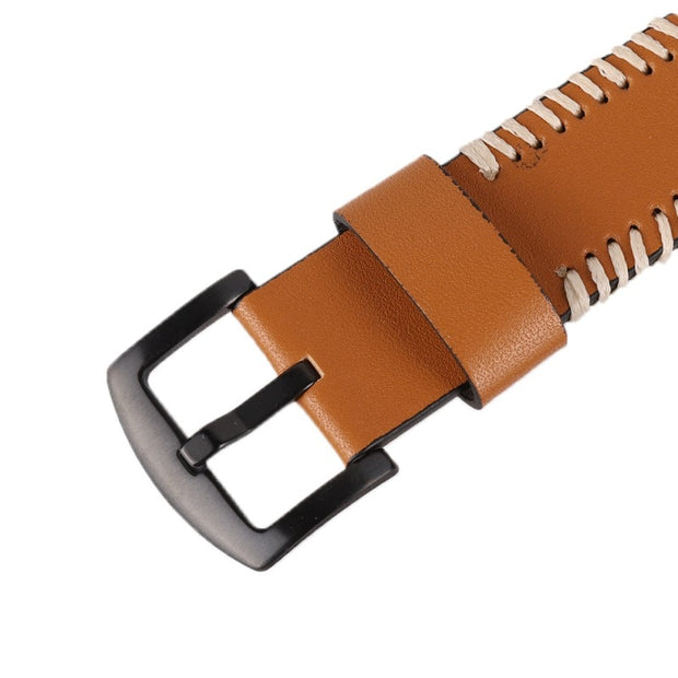 Waterproof Watch Band Strap Pin Buckled Leather Wristband Wristwatch Bands Replacement Accessories For Samsung Watches As