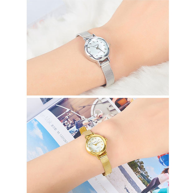 Waterproof Women Wrist Watch Mesh Band Quartz Analog Shopping Party Date Gift Fashion Luxury Bracelet