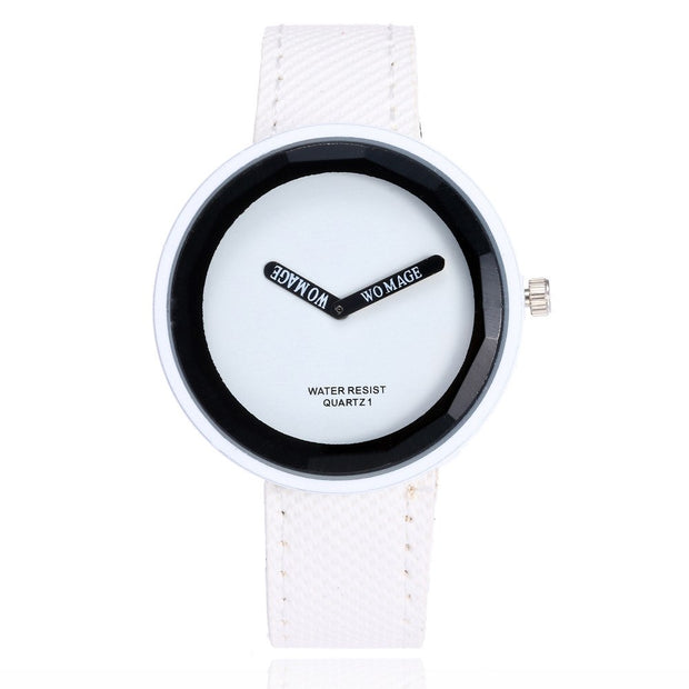 Womage Brand Watch Women Watches Leather Women's Fashion Ladies Girl Student Clock Montre Femme Relogio Feminino Reloj Mujer