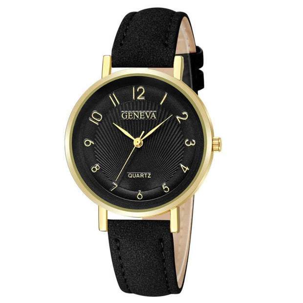 Women Watches Black Leather Strap Hot Fashion Creative Watches Women Men Quartz Luxury Stainless Steel Women's Clock Bayan Kol 3