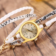Women's Wrapped Bracelet Watch Women's Woven Snake Quartz Watch