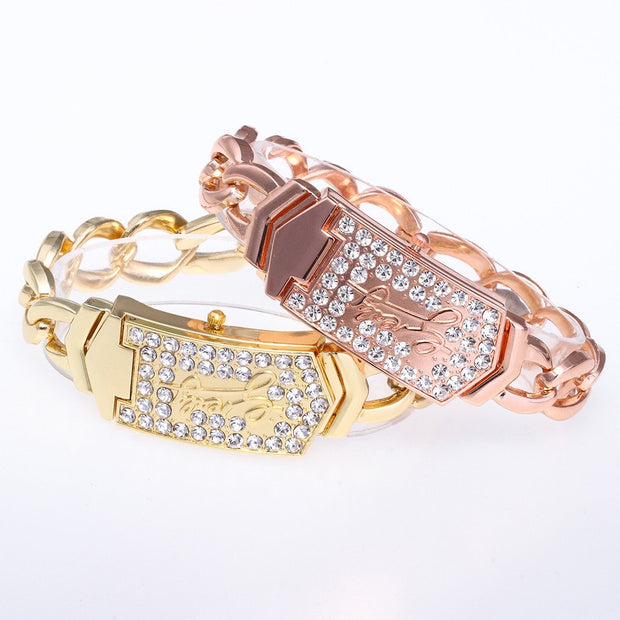 Women's Wrist Watch Square Rhinestone Crystal Diamond Bracelet Bangle Ladies Watches Fashion Watch 2019 Womens Watches