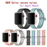 Woven Nylon Bands For Apple Watch Band Strap 42mm 38mm Sport Bracelet & Fabric Nylon Watchband For Iwatch Straps Series 3 2 1